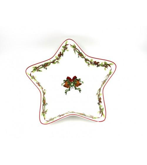 "Ceramic Star Dish ""Christmas Carol"" - Royal Family"