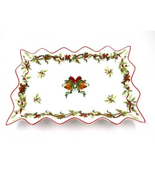 "Centrotavola Natalizio in Ceramica ""Christmas Carol"" - Royal Family"