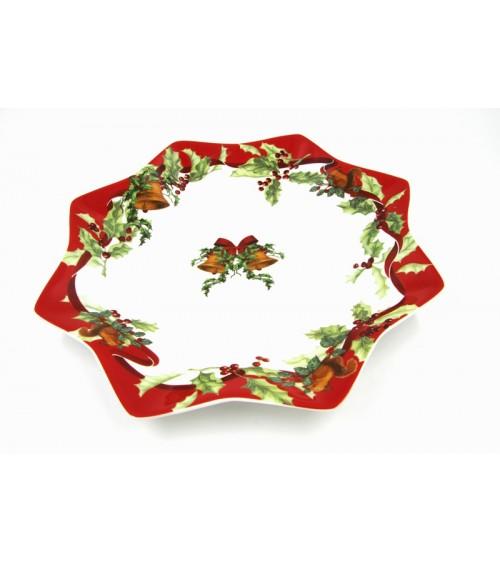 "Panettone Plate in Ceramic ""Christmas Carol"" - Royal Family"