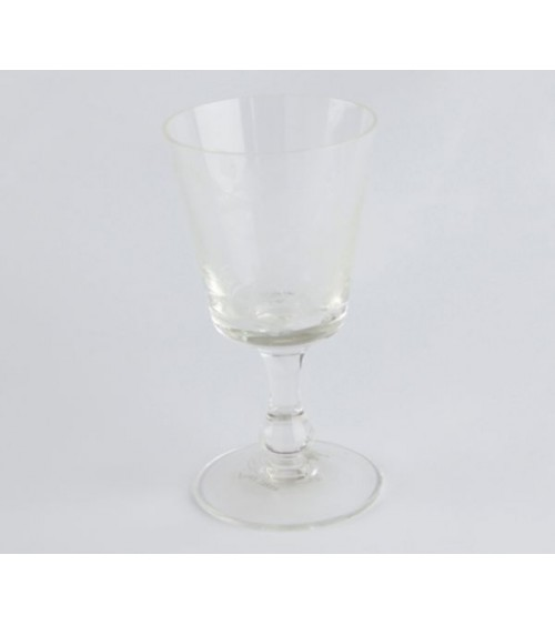 Set of 6 Transparent Crystal Water Goblets with Floral Decoration - Royal Family