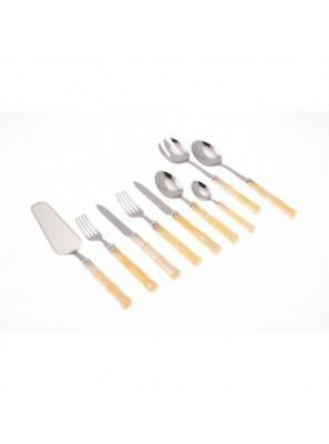 Rivadossi Cutlery 75 pieces Bamboo ivory