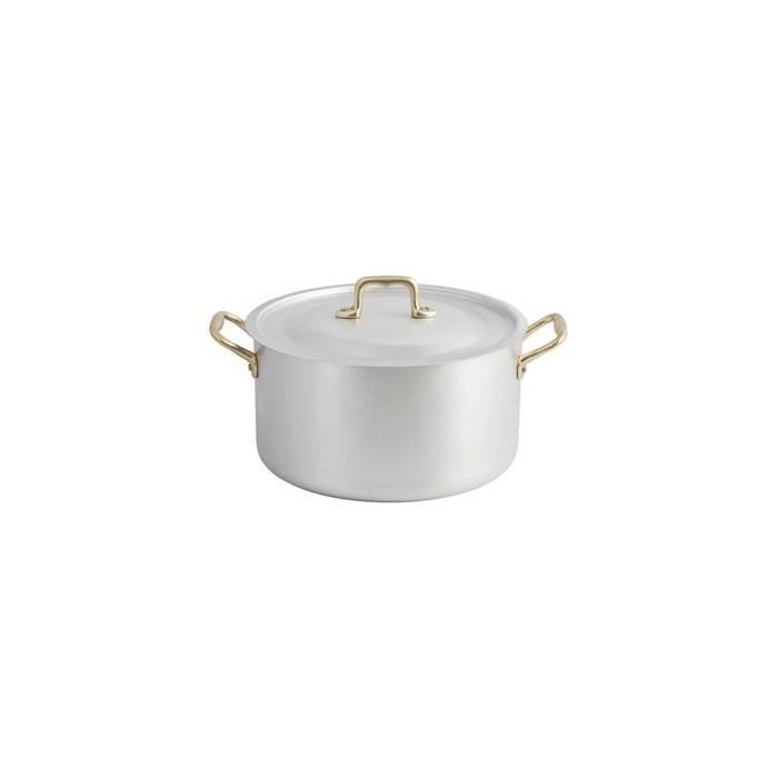 Professional Aluminum Casserole 2 handles with brass lid - 1
