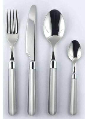 4pcs cutlery set grey Caramel
