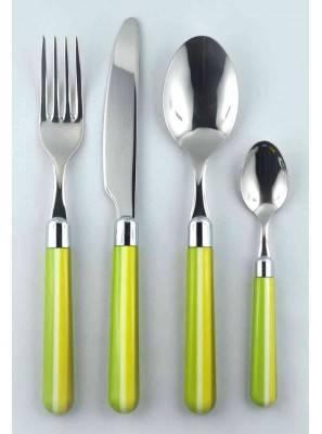 4pcs cutlery set green Caramel
