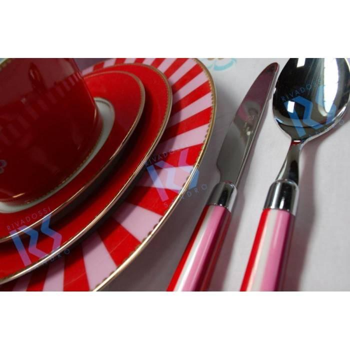 Caramel pink cutlery
