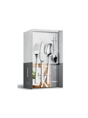 Stainless Steel Flatware Amefa - modern set 24pcs Cutlery Box - 2