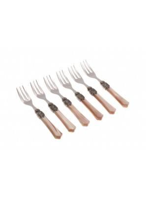 Vittoria cake fork champagne
