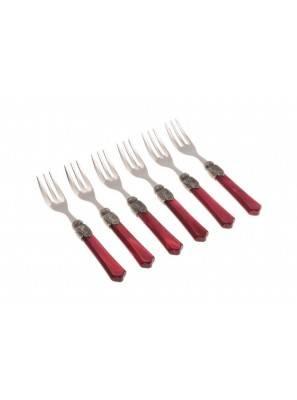 Vittoria cake fork bordeaux