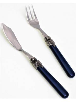 Fish knife and fish fork  blue