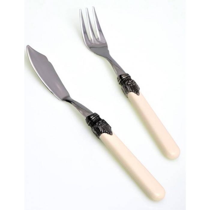 Fish knife and fish fork ivory