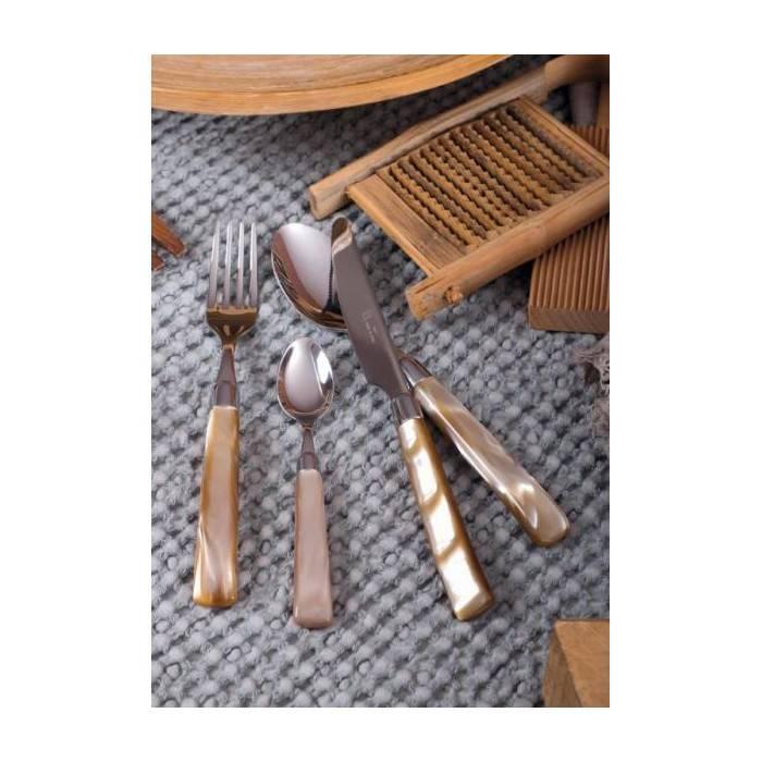 Italian Modern Flatware Giada Set 24 Pieces Pearl Handle - 1