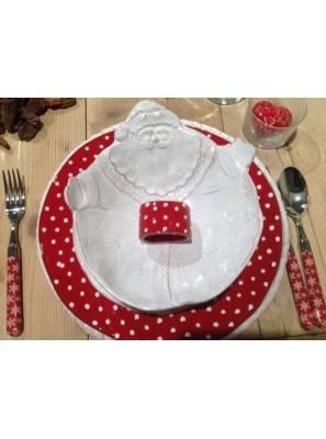 posate naif ice 24pz rosso tavola apparecchiata