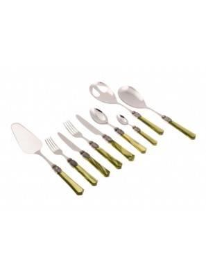 Vittoria Rivadossi Cutlery Set 75pcs Green