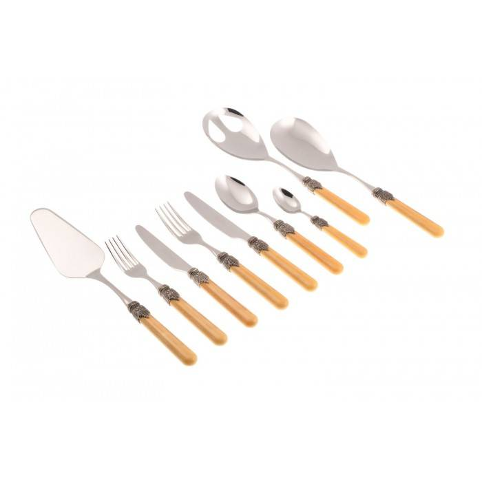 Vintage Rivadossi Colored Cutlery - set 75pcs Ocher