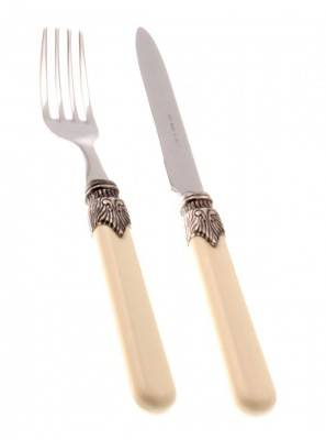 Classic Cutlery Set Fruit Fork and Knife Ivory Fruit