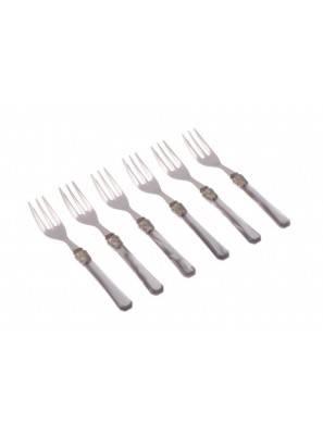 Forchettina dolce penelope 6pz grigio chiaro