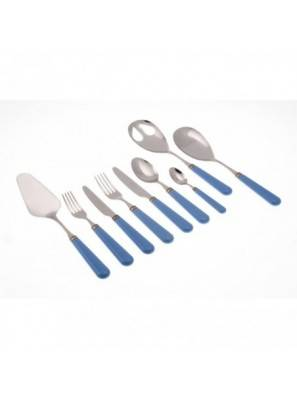 Mistral set 75pcs colored cutlery Rivadossi Sandro Bluesky