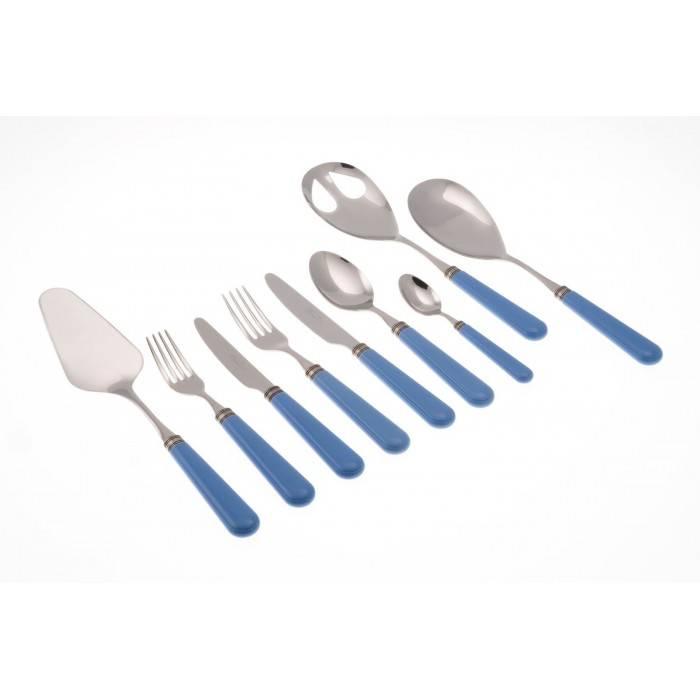Mistral set 75pcs colored cutlery Rivadossi Sandro Bluesky