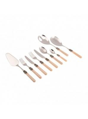 Vintage set 75 pcs Rivadossi Cutlery - Country - Shabby Chic - Beige