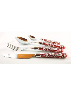 Willow - 24-Piece Cutlery Set - Red - Rivadossi