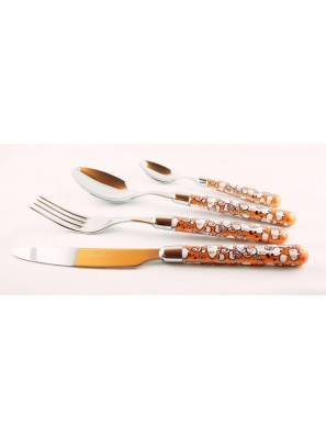 Willow - 24-Piece Cutlery Set - orange - Rivadossi