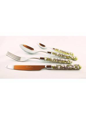 Willow - 24-Piece Cutlery Set - green - Rivadossi
