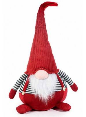 Père Noël ou Gnome en tissu - Rouge - Hauteur 72 cm