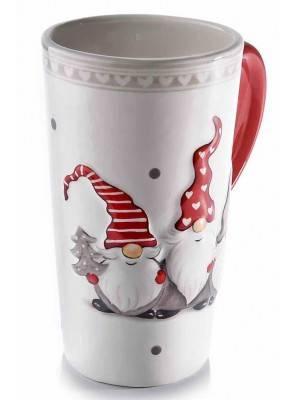 Tazza Colazione Decoro Babbo Natale in Ceramica