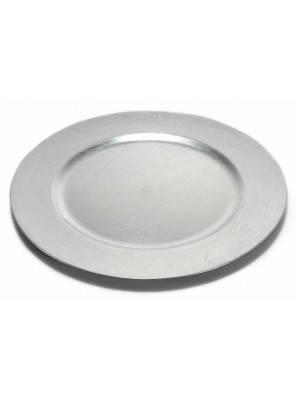 Silver Round Decorative Plates in Rigid Plastic