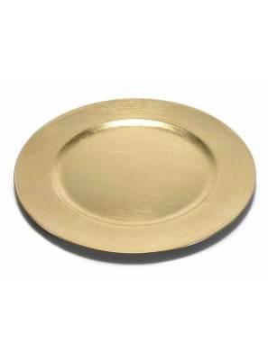 Golden Round Decorative Plates in Rigid Plastic