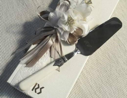 Faveur de mariage - Baptême - Communion - Pelle Rivadossi Sandro Torta - Modèle Classique Couleur Ivoire