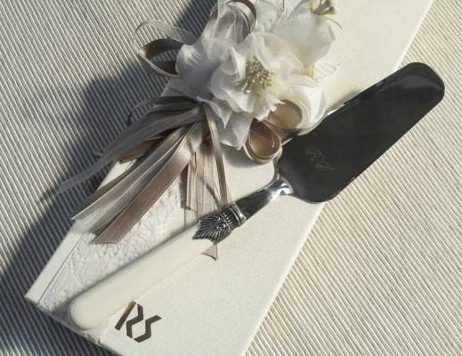 Wedding Favor - Baptism - Communion - Rivadossi Sandro Torta Shovel - Classic Model Ivory Color