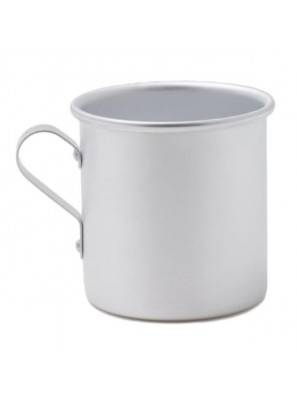 Cylindrical aluminum cup with round handle 0.3 lt