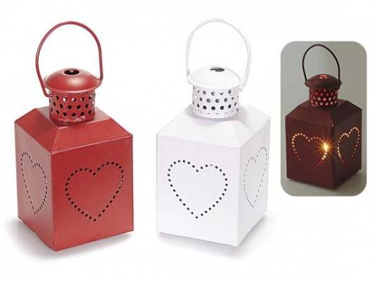 Lanterna rossa e lanterna bianca, portacandela