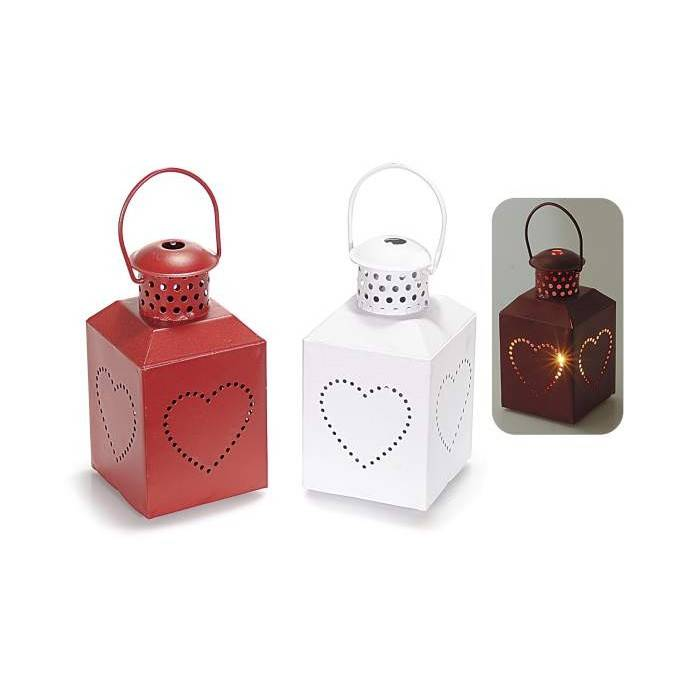 Red lantern and white lantern, candle holder