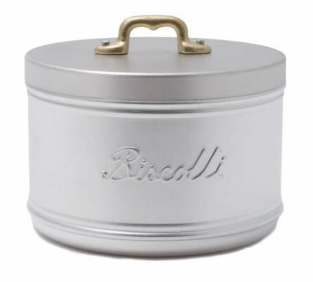 Porta Biscotti in Alluminio con manico in ottone - Stile Vintage / Country Chic - Made in Italy