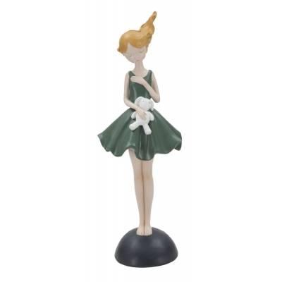Statuetta Dolly C/Coniglietto Cm 11
