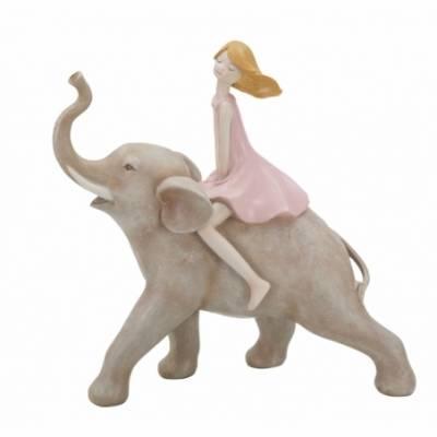 Statuetta Dolly Su Elefante Cm
