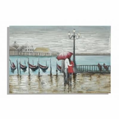 Dipinto Su Tela Venice Cm 120X3