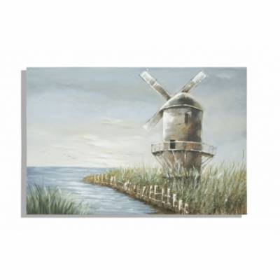 Dipinto Su Tela Mulino Cm 120X3