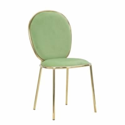 Sedia  Fashion Glam verde mela e gambe oro