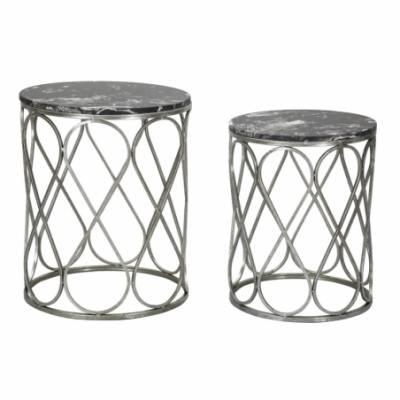 Table Latus Marble Couple Cm 46X55-39X48 - 1