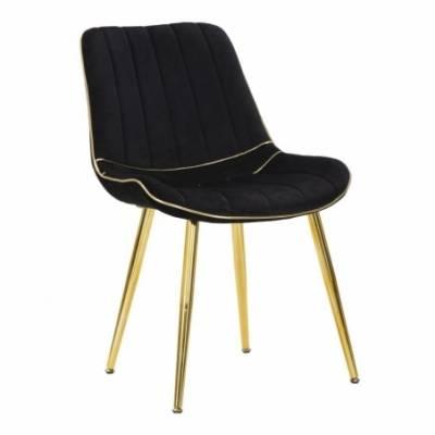 Chair Paris Nera/Gold Set 2 Pcs Cm 51X59X79 - 1