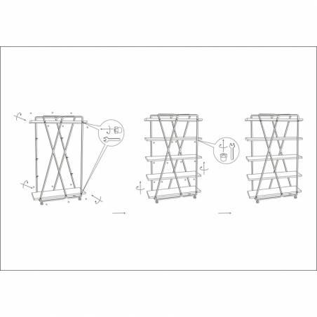 Book Shelf Trox Cm 119,5X44X187 - 10