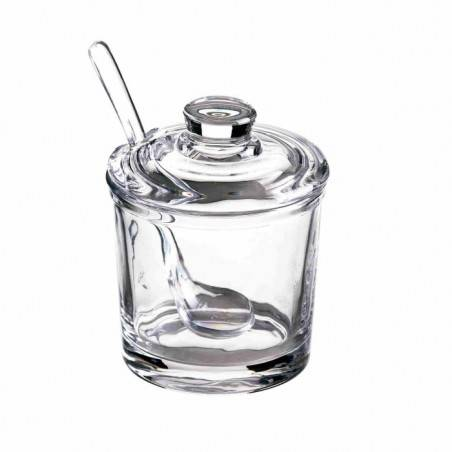 Favor in glass sugar bowl with spoon - 1