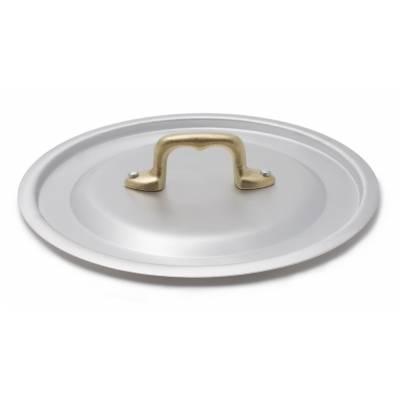 Coperchio in alluminio con manico in ottone - Made in Italy