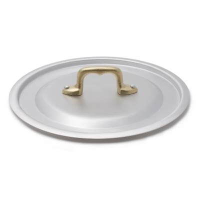 Rounded Aluminum Pan with Brass Handles - 3