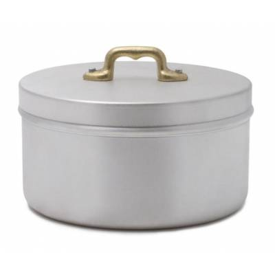 Aluminum Container Jar Brass Handle - Vintage Style
