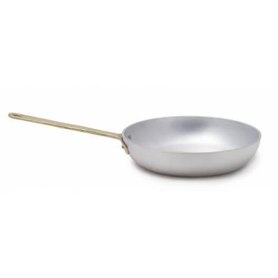 Poêle à frire professionnelle en aluminium avec poignée en laiton