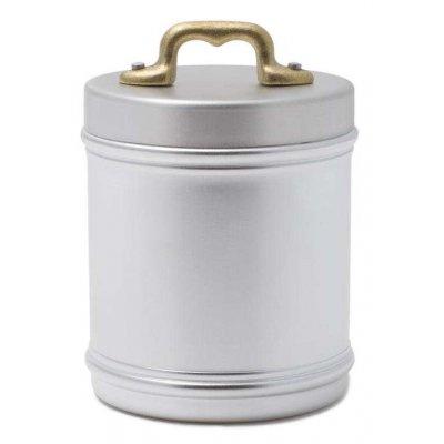 Pot de cuisine en aluminium avec couvercle et poignée en laiton - Style Country Retrò - cm 10